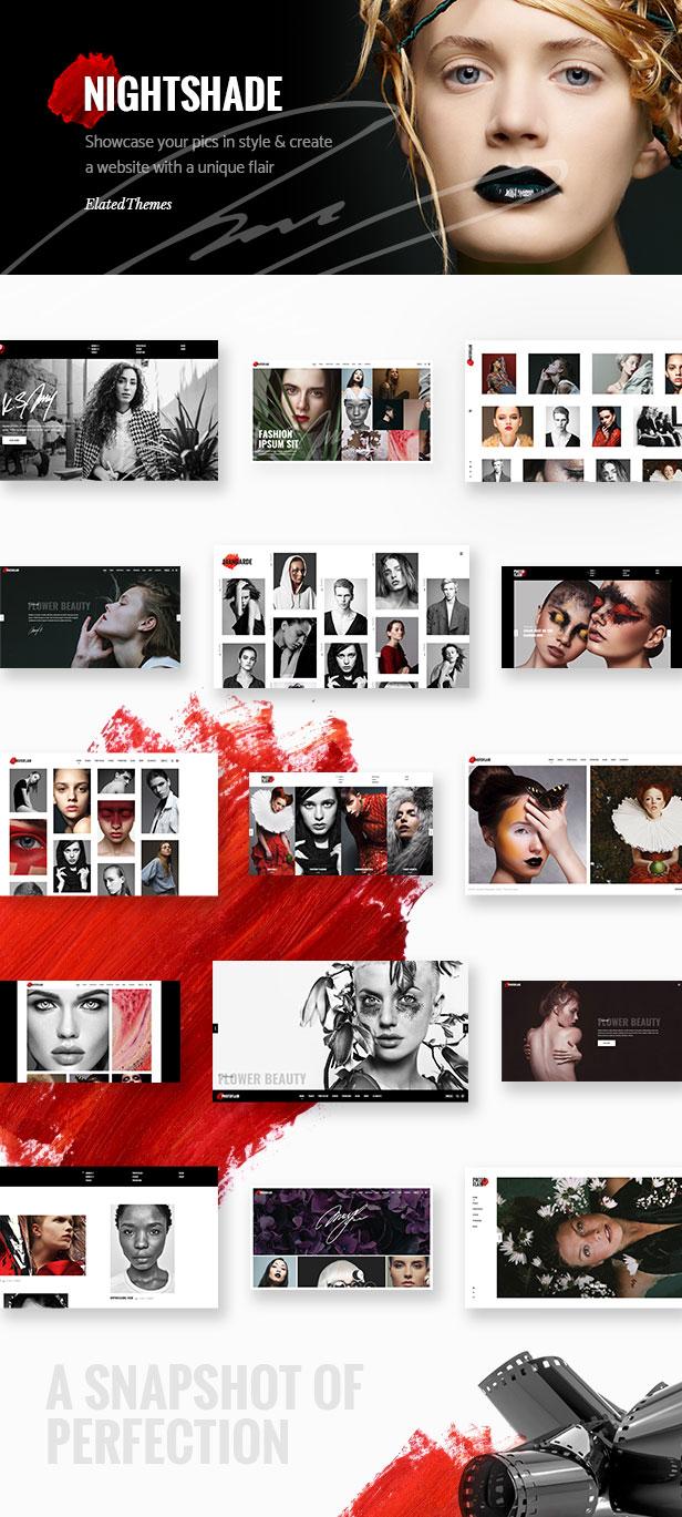 WordPress theme Nightshade - A Striking Photography / Portfolio Theme (Photography)